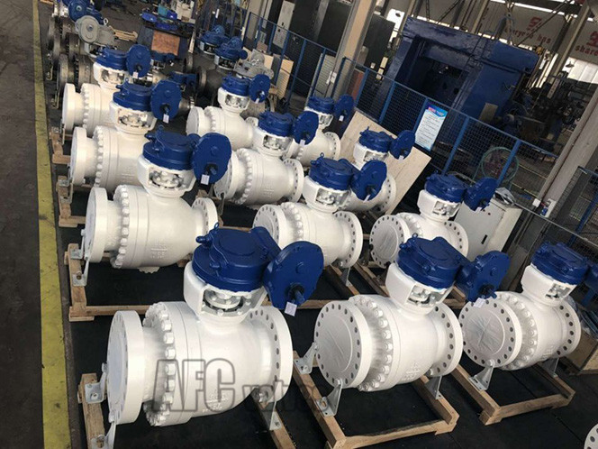 C Type Ball Valve with Gear Operation
